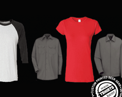 custom beer and brewery products for craft breweries - apparel