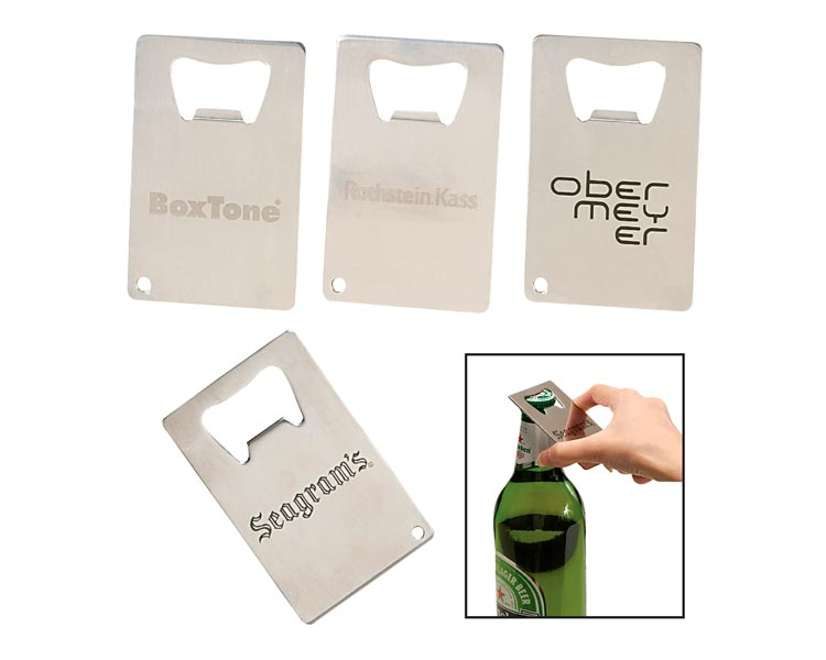 custom beer and brewery misc merch for craft breweries - B-OPEN11 Credit Card Bottle Opener