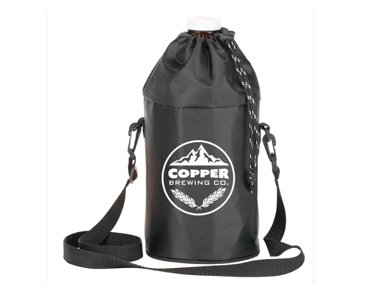 custom beer and brewery misc merch for craft breweries - BC 364 Growler Cooler Tote Black