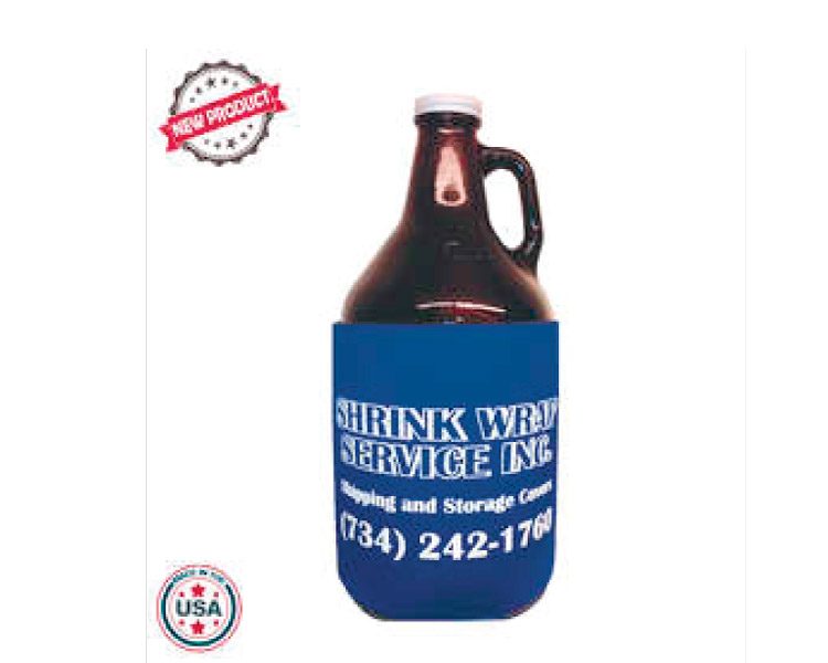 custom beer and brewery misc merch for craft breweries - JIT53 Premium Collapsible Foam 64oz Growler Bottle Insulator