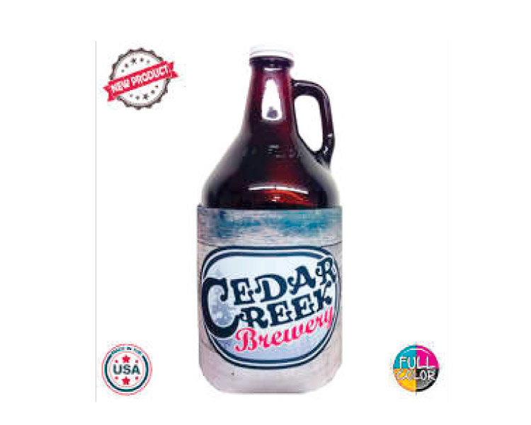 custom beer and brewery misc merch for craft breweries - JIT53FC Premium Full Color Dye Sublimation Foam 64oz Growler Bottle Insulator