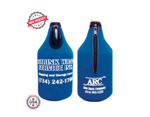 custom beer and brewery misc merch for craft breweries - JIT54 Premium Collapsible Foam 64oz Growler Bottle Zipper Insulator