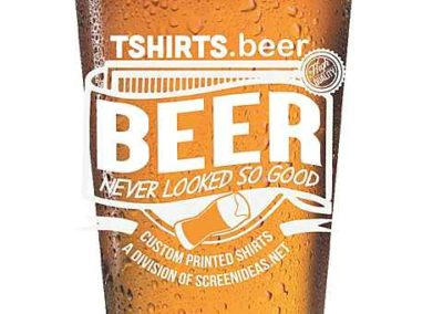 """TSHIRTS.beer"" pint"