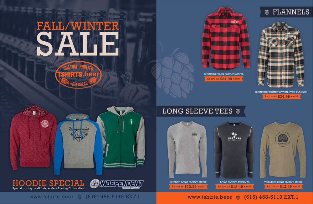TSHIRTS.beer PRODUCTS ON SALE -  Tshirts Beer-Winter Flyer-p1